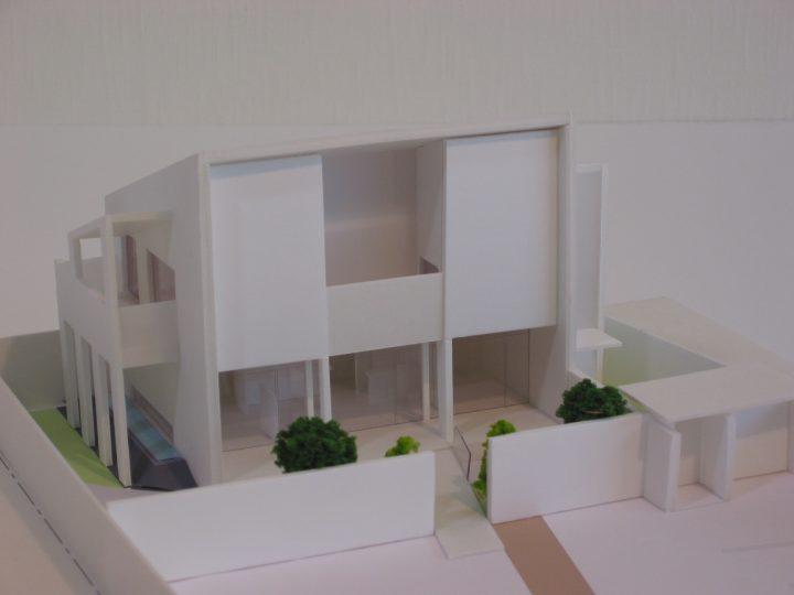 美容室併設住宅_模型